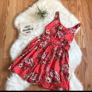 Blooming Floral Open Back Dress